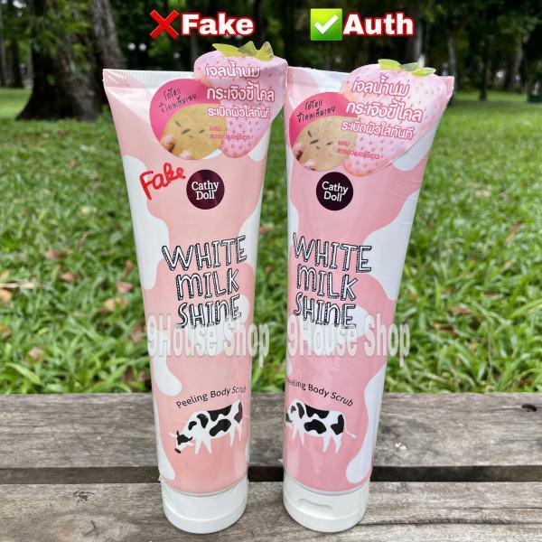 01 Tuýp Gel Tẩy tế bào chết Cathy Doll White Milk Shine Peeling Body Thái Lan 320gr