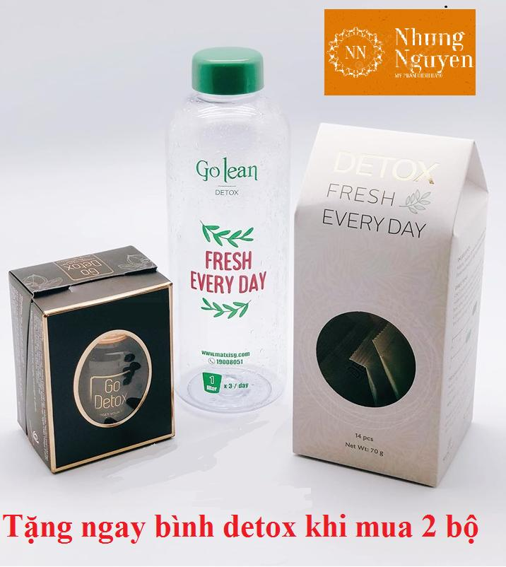 Combo Go Detox - Trà Giảm Cân Golean Detox (Mẫu mới nhất)