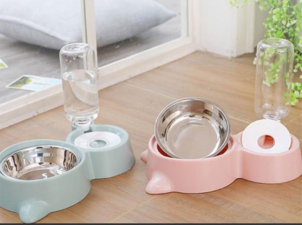 [HCM]Bát đựng thức ăn cho chó mèo chén ăn cho thú cưng thiết kế tai mèo bát ăn chó mèo cực dễ thương