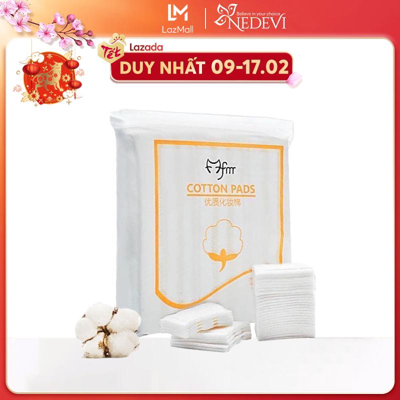 Bông tẩy trang 100% cotton 3 lớp mềm mịn thấm hút cực tốt 222 miếng/bịch COTTON PADS nhập khẩu
