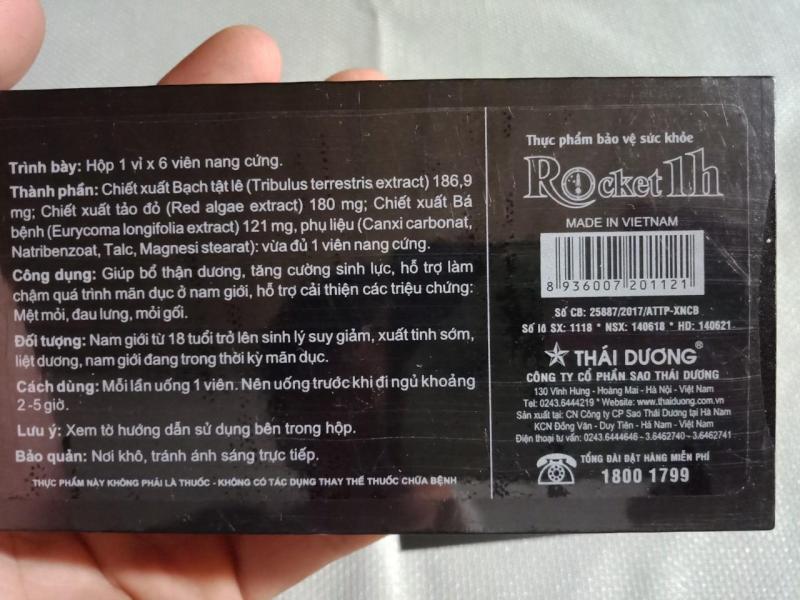 2 viên rocket 1h hỗ trợ tình dục nam (Có che tên sản phẩm) -sieuthi18 tốt nhất