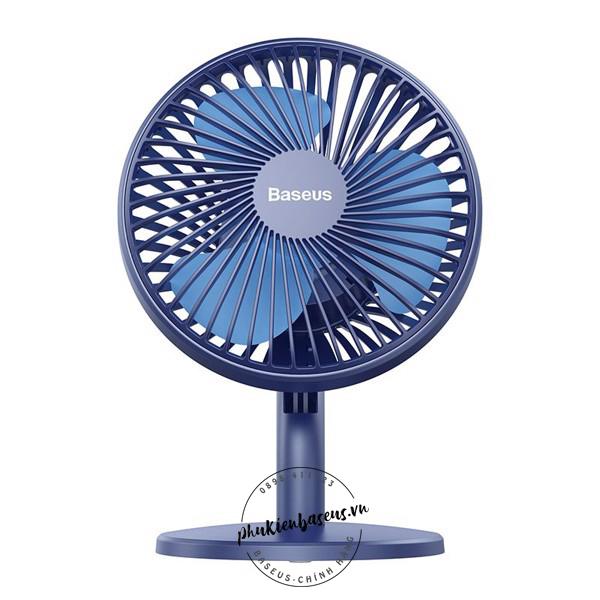 Quạt mini để bàn Baseus Ocean Fan Pin sạc 2000mAh cổng sạc  Micro USB với 3 mức điều chỉnh tốc độ gió - Mini USB Rechargeable Air Cooling Fan Clip Desk Fan