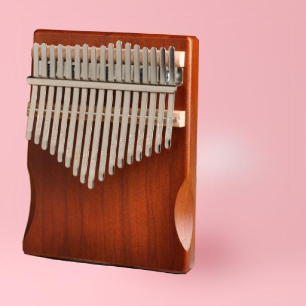 Đàn kalimba 17 phím gỗ nguyên khối thuần Mahogany âm vang ấm TY-KM170