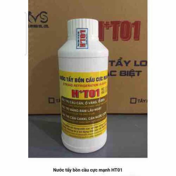 Nước tẩy ố vàng, cáu bẩn đồ sứ, bồn sứ HT01 500ml
