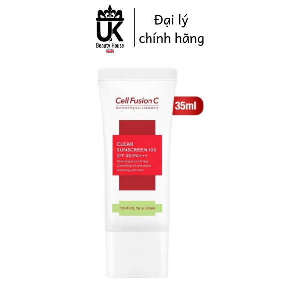 Kem chống nắng Cell Fusion C Clear Sunscreen 100 SPF50+/PA+++ 35ml