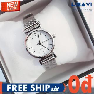 Đồng hồ Nữ Candycat C39, đồng hồ mặt tròn, chạy 3 kim, dây đeo lưới kim loại cực bền không gỉ, kháng nước chống trầy nhẹ (3 loại 2 màu) thumbnail