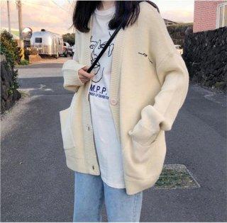 Áo khoác len nữ, Áo khoác cadigan nữ, chất dày mịn hàng loại 1, màu be, màu đen - hàng Quảng Châu - 050 thumbnail