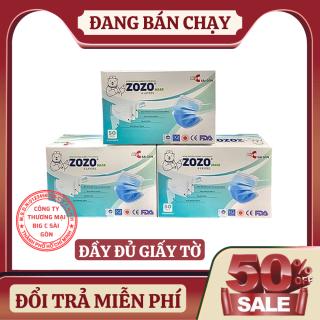[ HÀNG ĐỦ GIẤY TỜ ] Hộp 50 Khẩu Trang Y Tế Cao Cấp Loại 4 Lớp ZOZO MASK BIG C Sài Gòn thumbnail