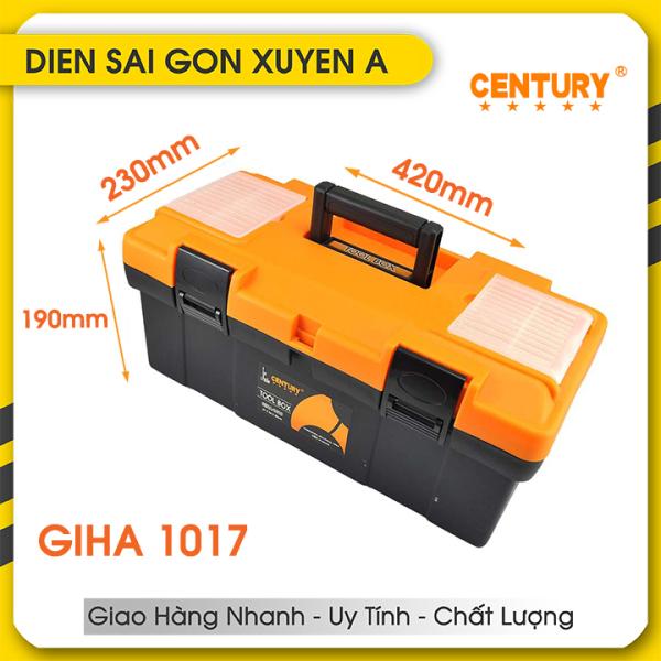 Thùng đồ nghề - Hộp đựng dụng cụ đồ nghề kim khí, dụng cụ gia đình đa năng Century Giha-1017