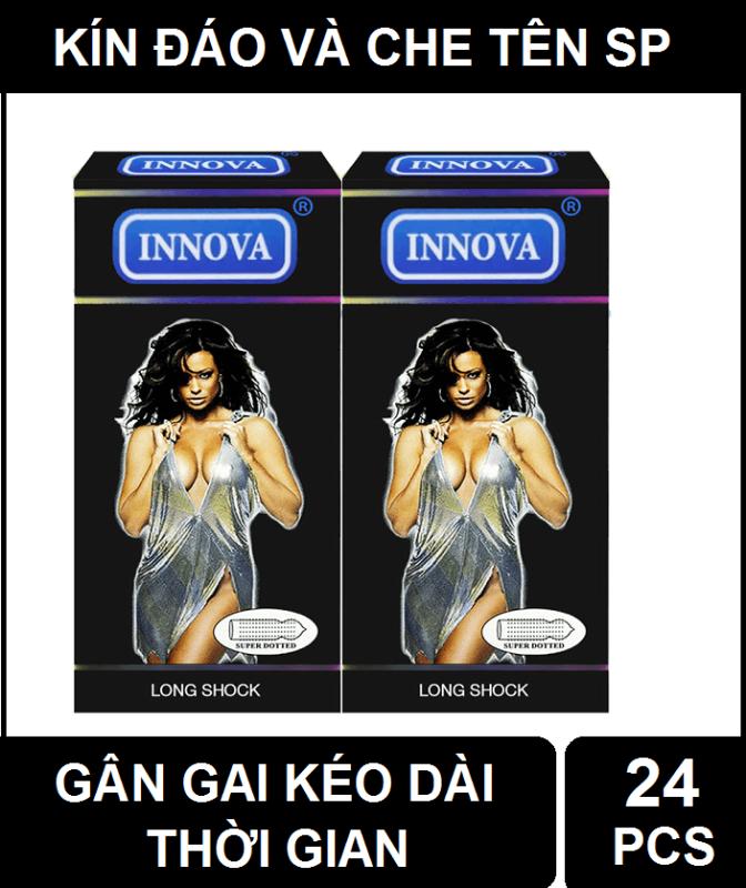 [Hàng chính hãng] Combo 2 hộp Bao cao su siêu gân gai kéo dài thời gian INNOVA (24 chiếc)