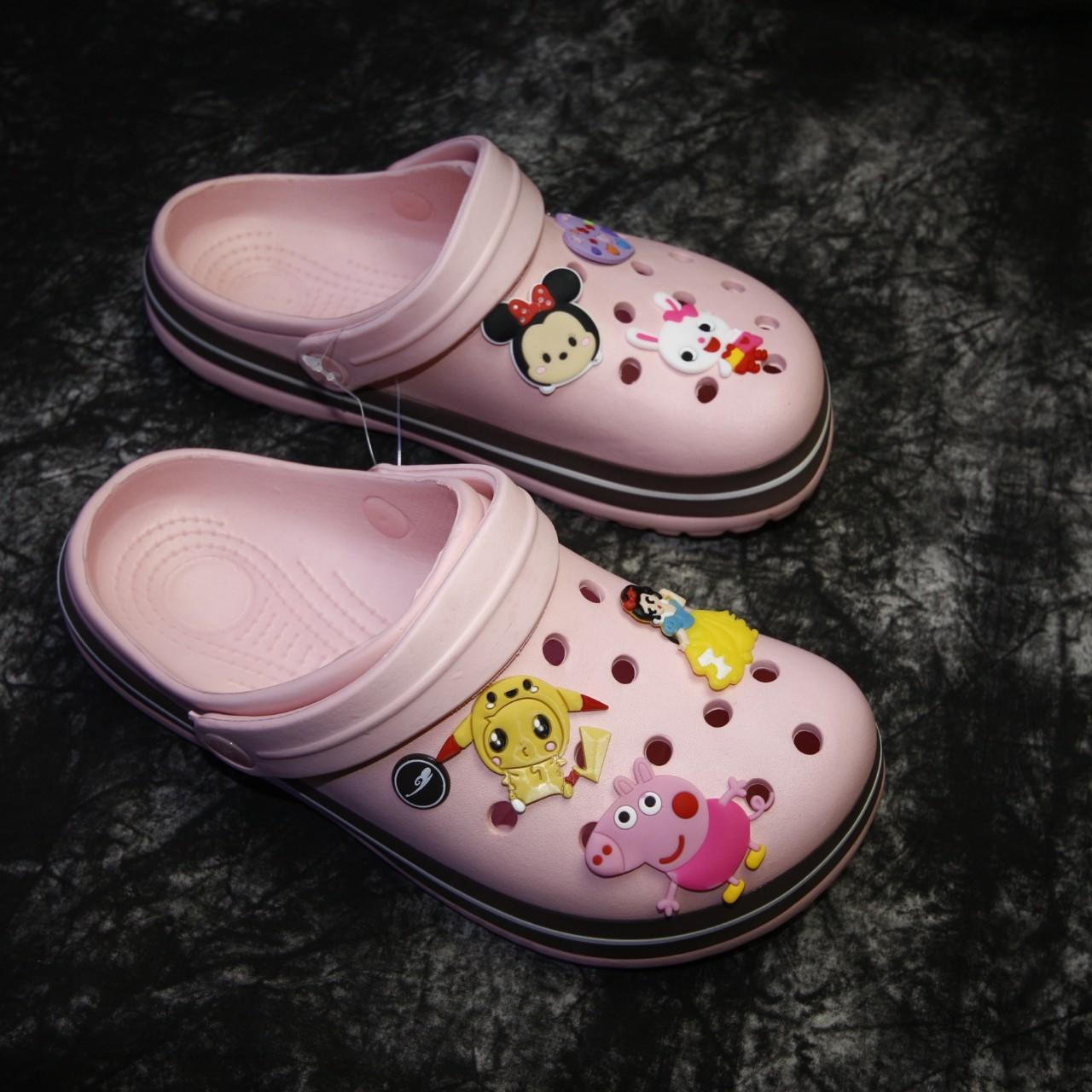Dép Crocs nữ cao cấp giá sốc nhiều màu - Tặng kèm 6 sticker