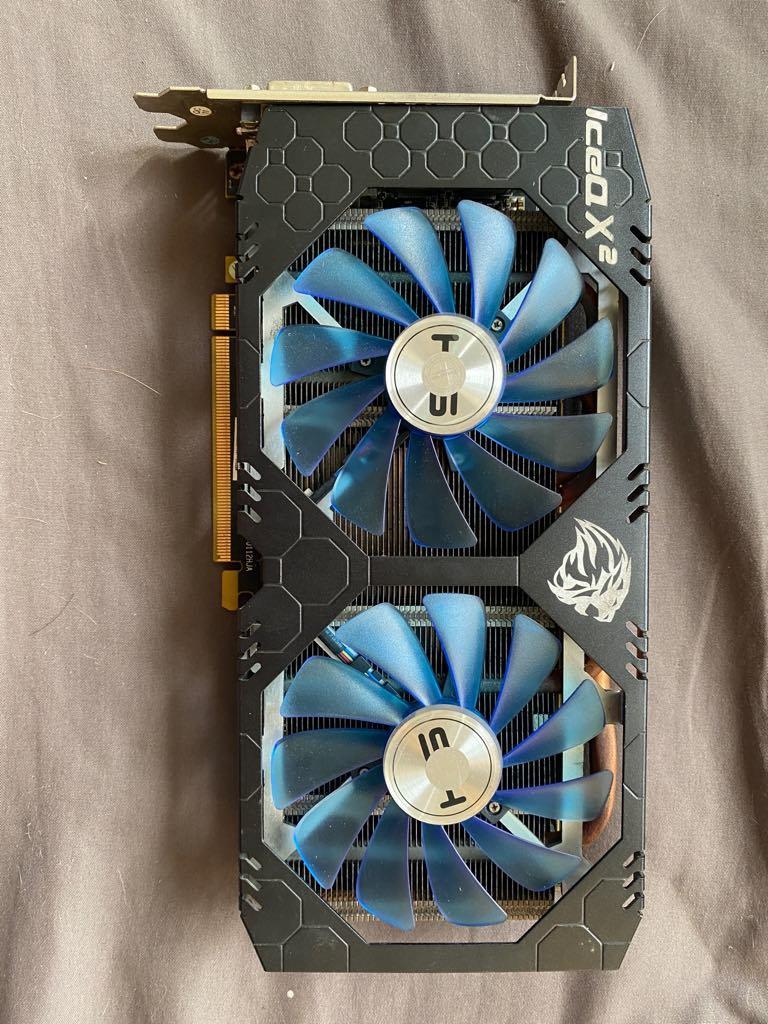 Giá [BẢO HÀNH 3 THÁNG] Card Đồ Họa AMD HIS RX 589 IceQ X² OC 8GB BH Compuland (Ảnh thật)