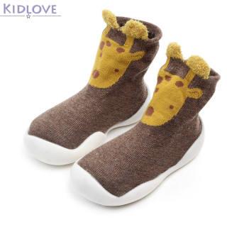 Giày tập đi Kidlove cổ cao đế cao su chống trượt hoạ tiết hoạt hình cho trẻ sơ sinh - INTL