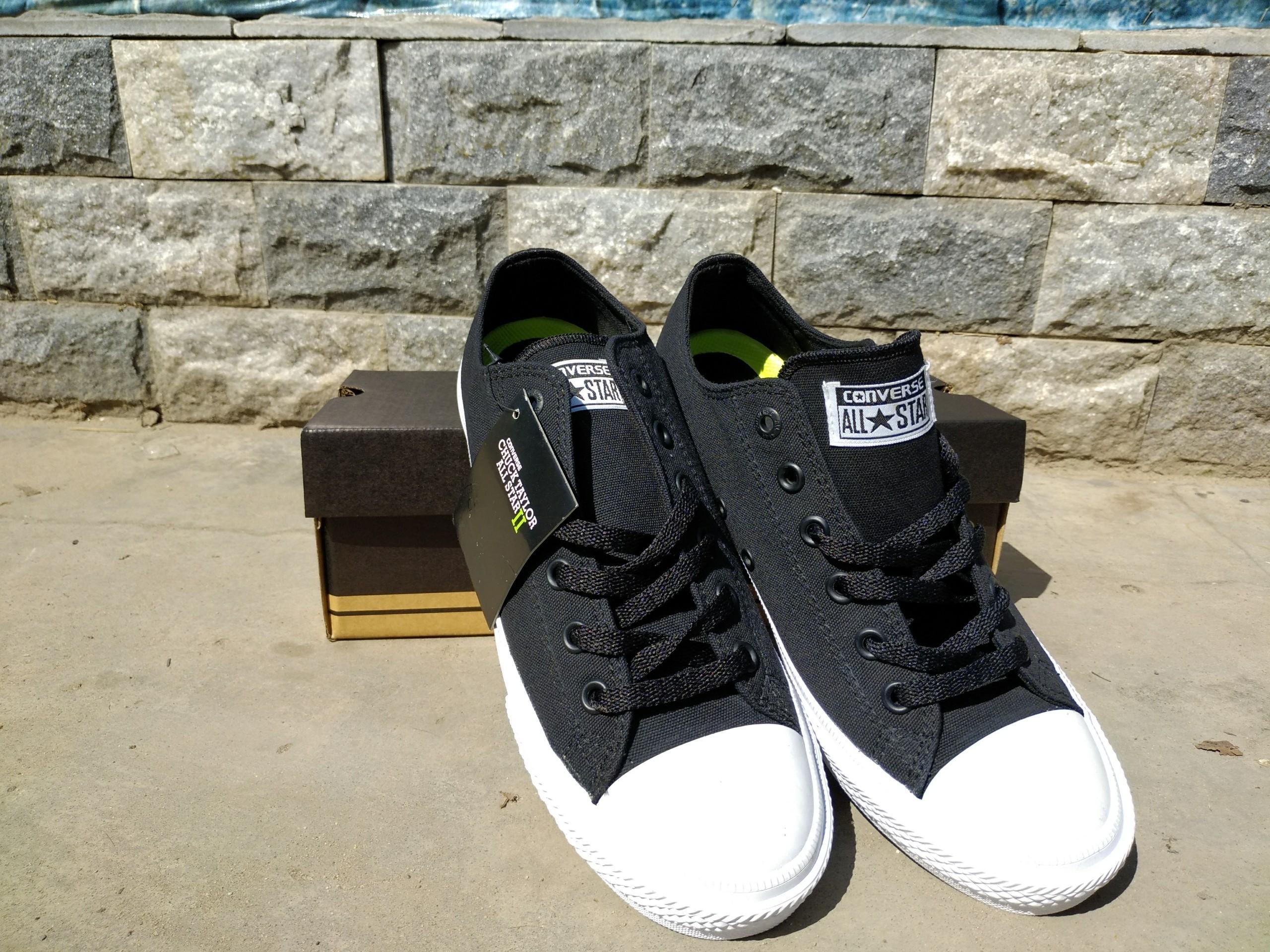 7f6e67028  FullBox+tặng Vớ    Giày Chuck 2 Cổ Thấp (Đen)