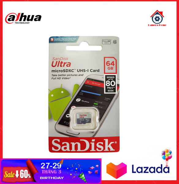 [BEST SELLER]-Thẻ nhớ SANDISK 64GB - Camera Home