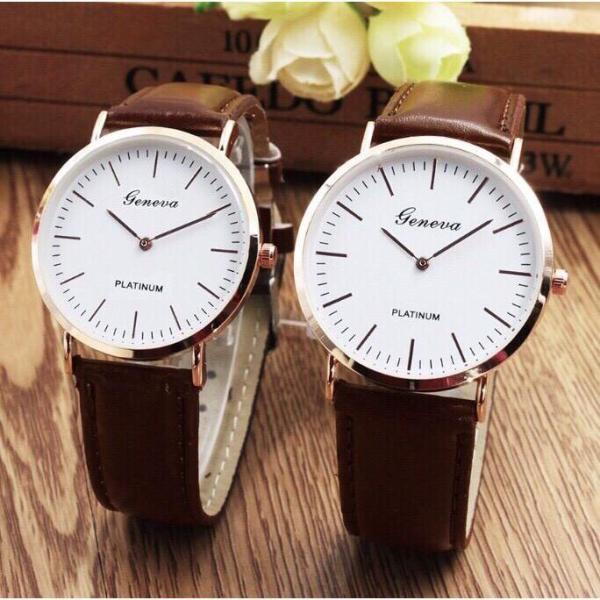 Nơi bán Đồng hồ cặp thời trang nam nữ geneva phong cách lịch lãm GE77