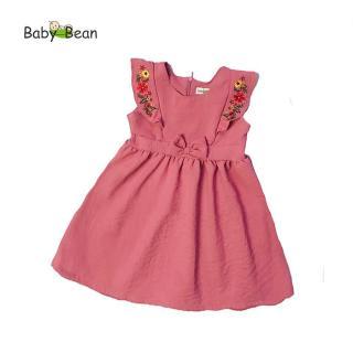 Đầm Đũi thêu Hoa Bèo Dọc bé gái BabyBean thumbnail