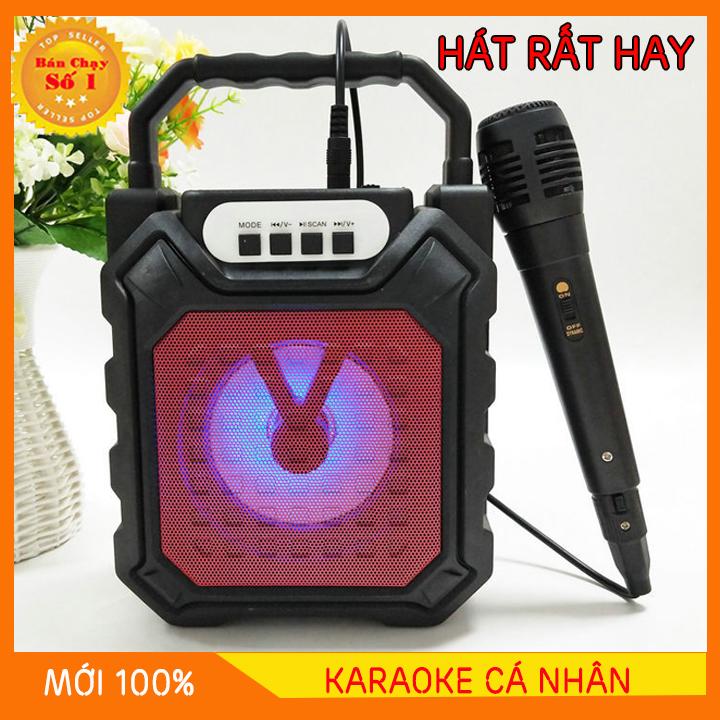 [MIỄN PHÍ VẬN CHUYỂN]  Loa Kẹo Kéo Có Mic Hát Karaoke Nghe Nhạc Bluetooth, Loa bluetooth, loa kraoke cắm thẻ nhớ, nghe đài FM Siêu Hay - Tặng kèm Mic