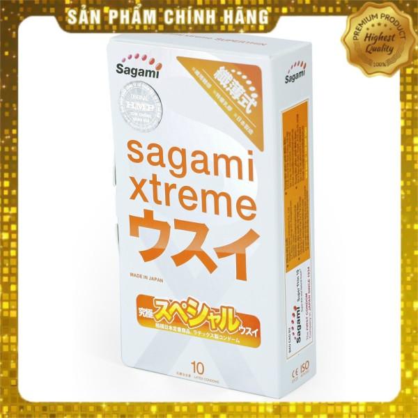 [FREESHIP] Bao Cao Su Siêu mỏng 10 chiếc Sagami Xtreme Super Thin - Nhật Bản - Chính hãng - Che tên sản phẩm kín đáo