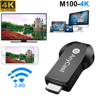 Thiết bị kết nối không dây HDMI Độ phân giải 4K ANYCAST M100 băng tần kép Wifi 2.4G 5G - 4K 5G Mirascreen TV stick Dongle new Anycast M100 5G 2.4G HDMI Miracast DLNA Airplay WiFi Display Receiver newest model thumbnail