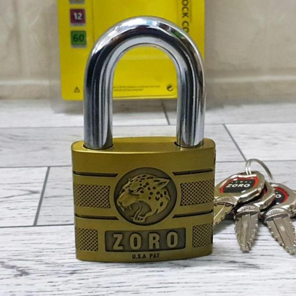 Ổ Khóa ZORO Size đại 6P Đầu Báo ( Chìa Kiếm )