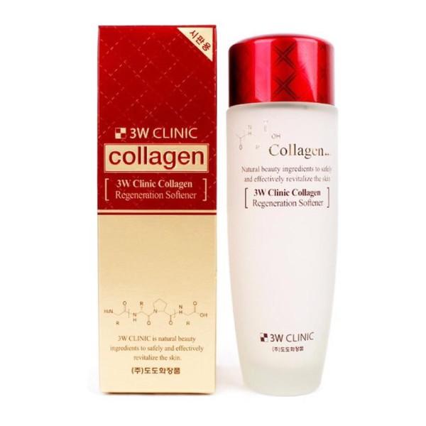 Nước Hoa Hồng Dưỡng Trắng Da Chống Lão Hóa 3W Clinic Collagen Regeneration Softener 150ml