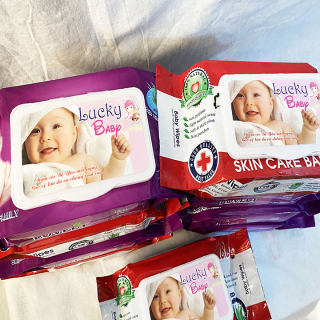 Khăn giấy ướt đa năng,khăn giấy ướt cho bé an toàn không tẩm hoá chất độc hại bảo vệ làn da và chống rôm sảy thumbnail
