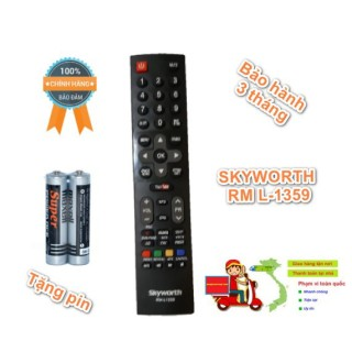 Điều khiển tivi skyworth - remote tivi skyworth loại đẹp L1359 thumbnail