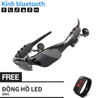 Đồng hồ led miễn phí Kính Mát Kèm Tai Nghe Bluetooth - mẫu kính mát nghe nhạc, nghe gọi điện thoại cực tiện lợi cho cả nam và nữ đang hot thumbnail