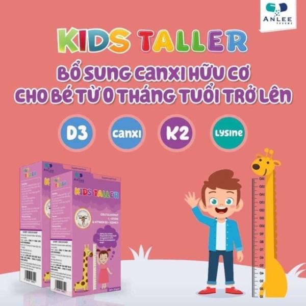 Kids taller bổ xung canxi hỗ trợ tăng chiều cao