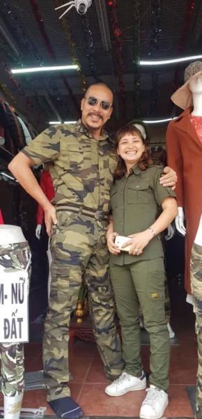 Bộ quần áo lính chất cotton Mã cy97