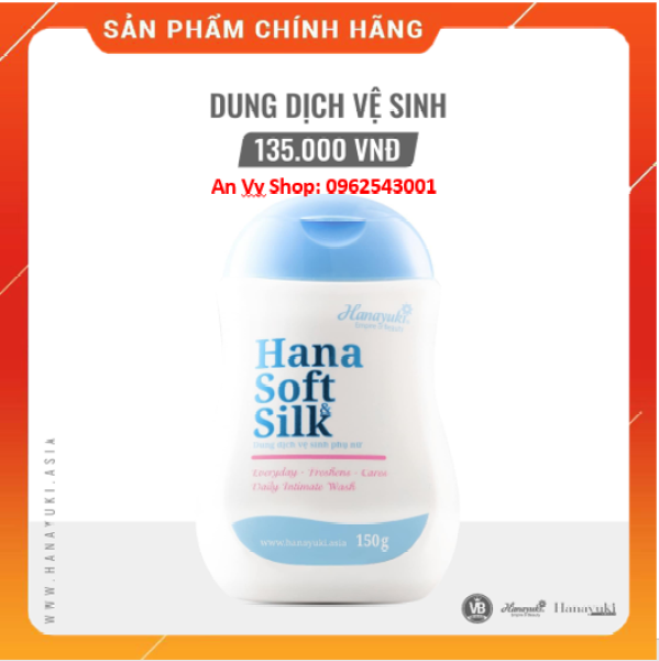 Dung Dịch Vệ Sinh Phụ Nữ Hana Soft Silk Hanayuki [date 2023]