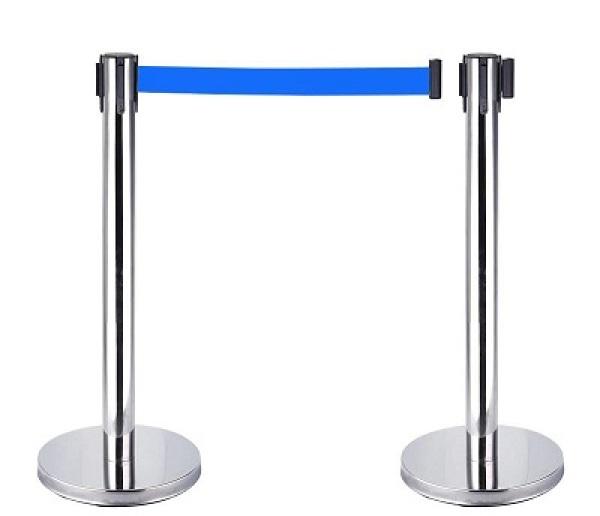 Cột chắn inox dây căng xanh