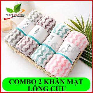 Một chiếc khăn mặt lông cừu siêu thấm Hàn Quốc 30 50cm, khăn mặt Hàn Quốc, khăn lông cừu siêu thấm nước thumbnail