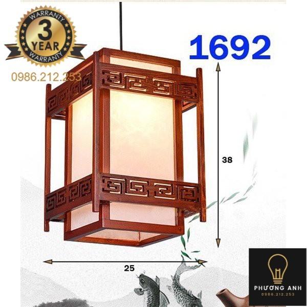 Bảng giá Đèn lồng gỗ thả bàn ăn, trang trí phòng bếp, phòng khách sang trọng cổ điển mã 1692 - Đèn Phương Anh