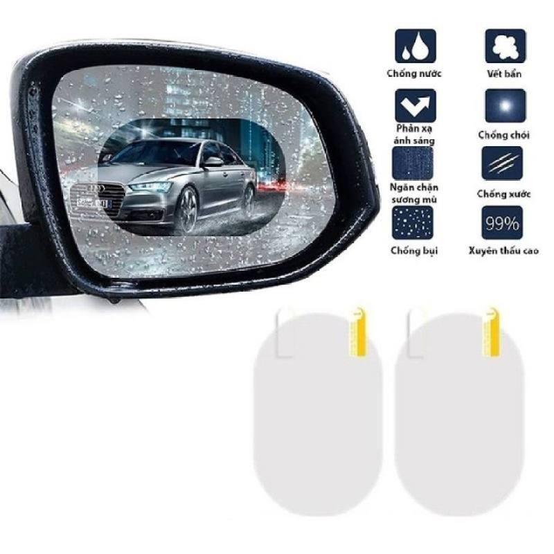 [THANH LÝ] Bộ 2 miếng dán chống bám nước gương chiếu hậu, kính hông xe ô tô, xe hơi Cao cấp hình Oval kích thước 135*95mm - G275