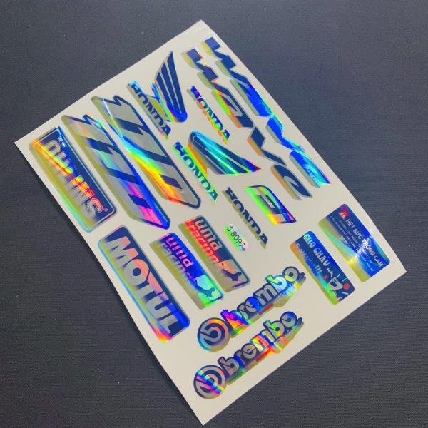 TRỌN Bộ tem logo, tem crom bóng phản quang dán xe máy WAVE (NHIỀU STICKER)