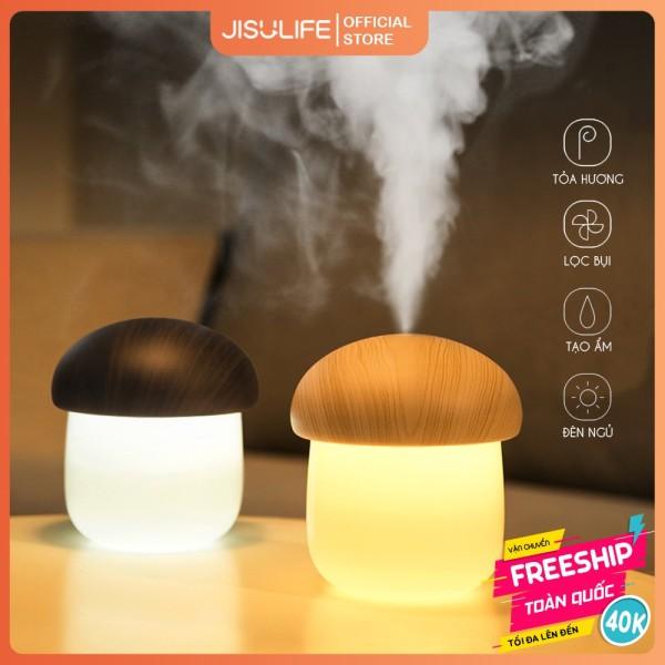 ⚡SIÊU HOT⚡Máy phun sương nano hình nấm dễ thương Jisulife JM02, Công nghệ phun hơi nước mịn, Sạc pin siêu trâu, siêu bền