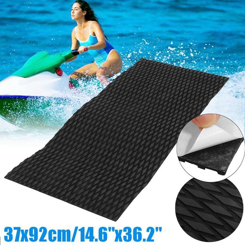Water Scooter Non-Skid Marine Flooring Synthetic Eva Foam Sheet 37X92Cm Jet-Ski Black Surfboard Mat Watercraft Skis Slip - 1