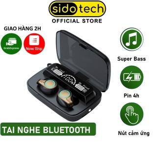 Tai nghe bluetooth không dây SIDOTECH M18 mini TWS bluetooth 5.1 âm thanh CV8 LED hiển thị pin cảm ứng vân tay thumbnail