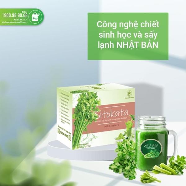 Bột cần tây sitokata 1 hộp 20 gói( 100gr) giúp giảm cân đẹp da + tặng kèm chai nước và cẩm ang