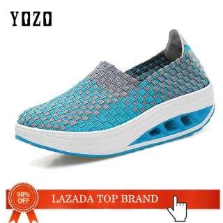 Giày Thể Thao Nữ Mùa Hè YOZO Giày Dệt Đế Bằng Giày Thể Thao Nữ Thường Ngày Giày Nữ Lưới Giày Đi Bộ Nữ Giày Thoáng Khí