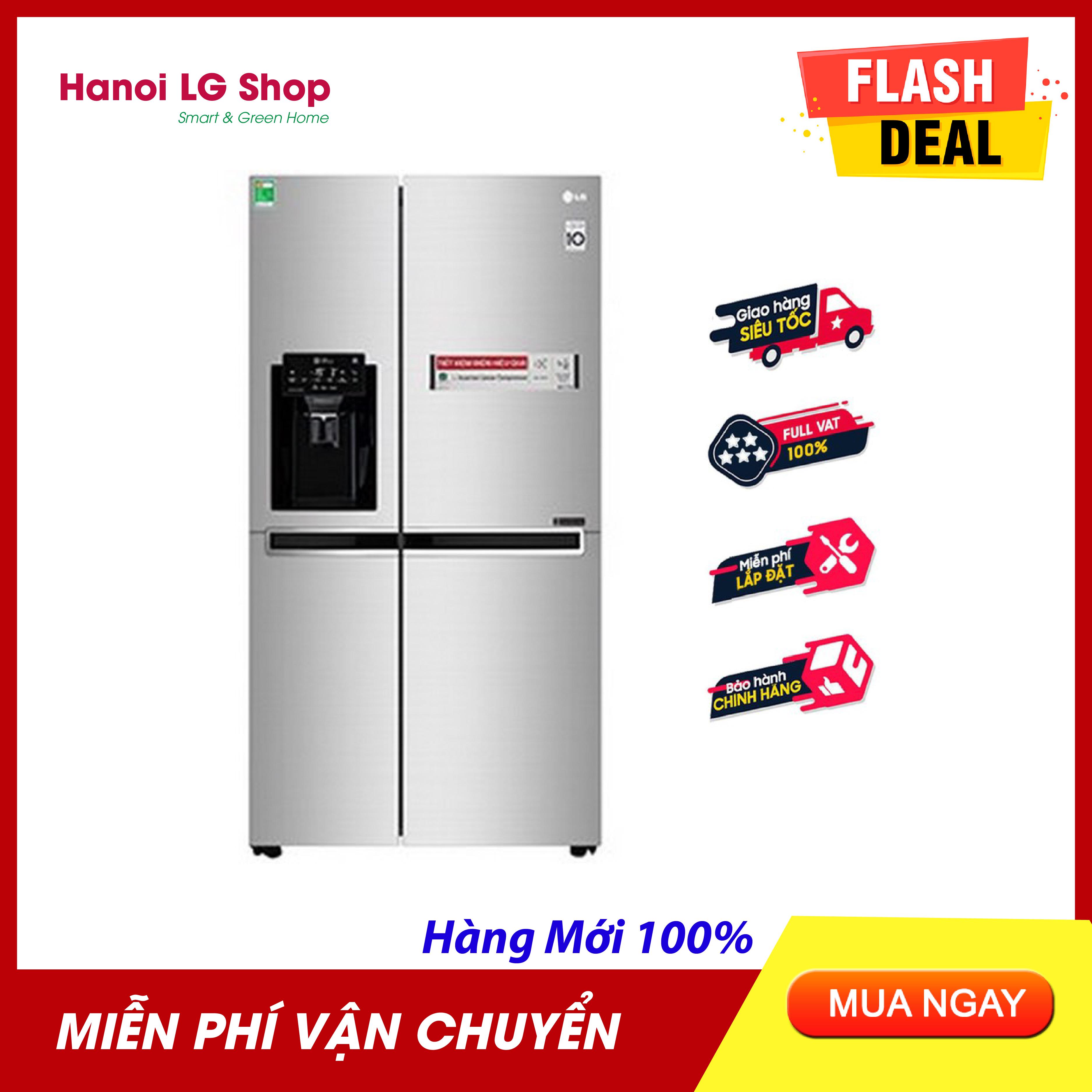Offer Khuyến Mại [HÀNG CÓ SẴN] - Tủ Lạnh Side-by-Side LG Inverter 601 Lít GR-D247JDS