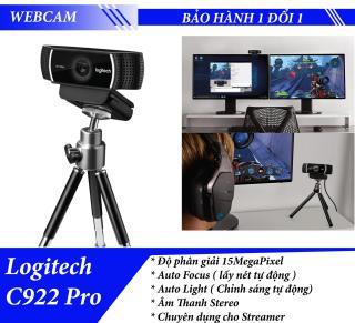 Webcam Logitech C922 quay Full HD có kèm Tripod - Camera chuyên dụng cho LiveStream thumbnail
