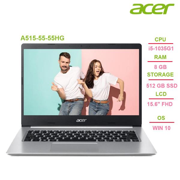 Bảng giá Laptop Acer Aspire 5 A515-55-55HG i5-1035G1 | 8GB | 512GB | Intel UHD Graphics | 15.6 FHD | Win 10 - Chính hãng Phong Vũ