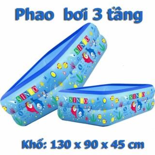 Bể Bơi 3 Tầng Hình Chữ Nhật Cao Cấp Kích Thước 1M3 - Phao Bơi 3 Tầng Cho Bé Yêu Tte36 thumbnail