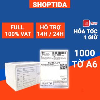Giấy in nhiệt Shoptida 1000 tờ A6 10 15cm 3 lớp tự dán chống nước, sử dụng cho máy in nhiệt Shoptida SP46 thumbnail