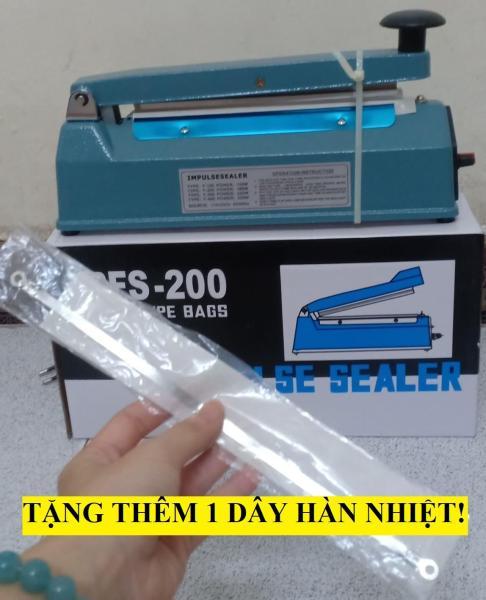 [HCM]MÁY HÀN MIỆNG TÚI DẬP TAY 20CM VỎ SẮT BỀN( máy ép túi nilong)+ tặng dây nhiệt
