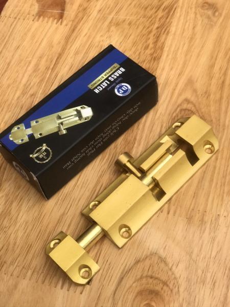 Chốt cửa bằng đồng đúc cao cấp 125 x34mm
