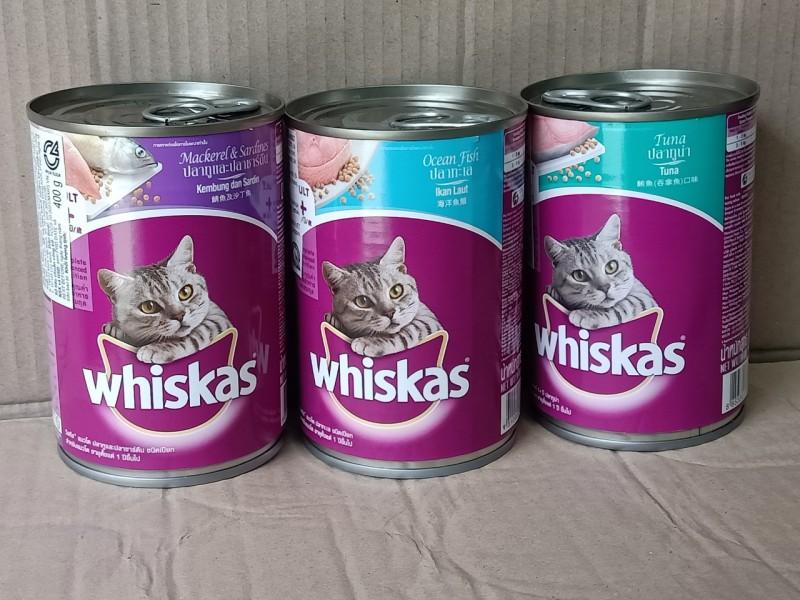 Pate Whiskas lon 400g - cho mèo lớn